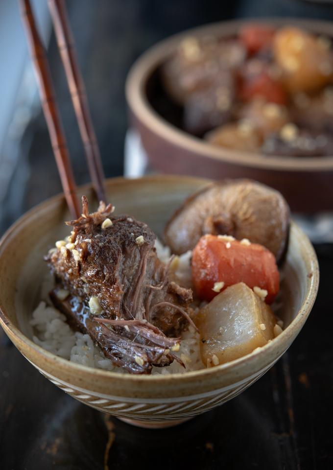 Korean beef short ribs are so tender it's falling off the bone