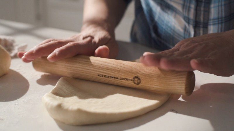Roll out the dough into 7-8 inch long