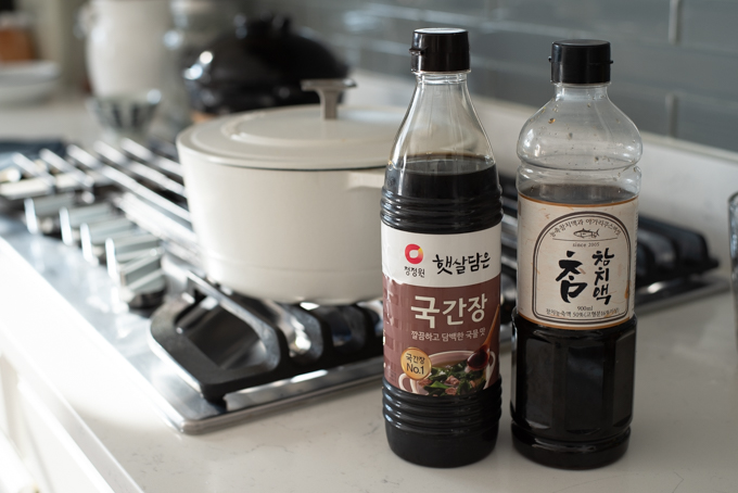 Korean soup sauce and Korean tuna sauce is widely used in Korean dishes