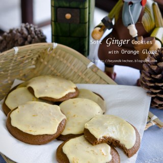 Belsnickle Cookies, Soft Ginger Cookies with Orange Glaze
