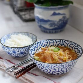Kimchi and soybean sprouts make a good hangover soup to serve with rice.
