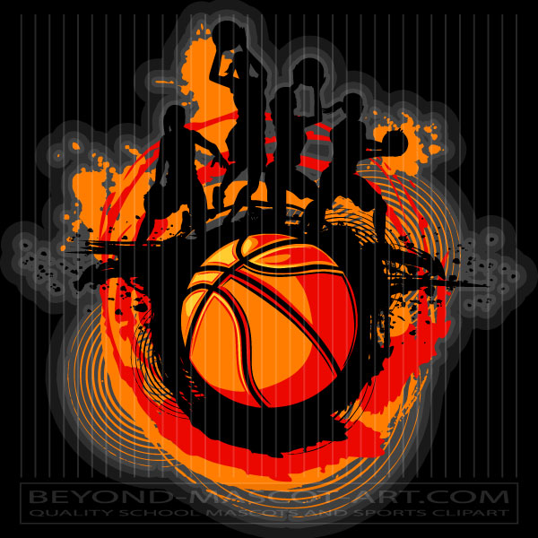 Girls Basketball Design Graphic Vector Basketball Image