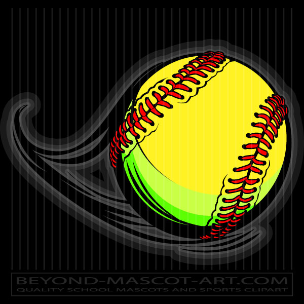 Vector Softball Graphic Vector Softball Image