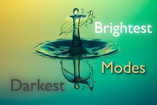 darkest to brightest modes