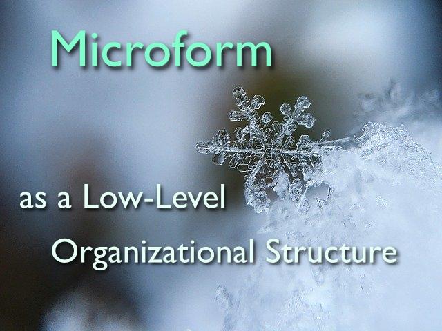 microform as a low level organizational structure