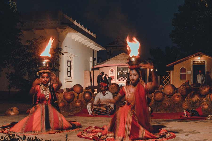 Women Dancing in a Heritage Resort in Jaipur India