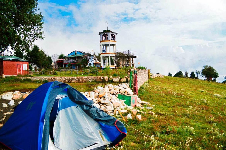 Our tent at the Pandukholi ashram