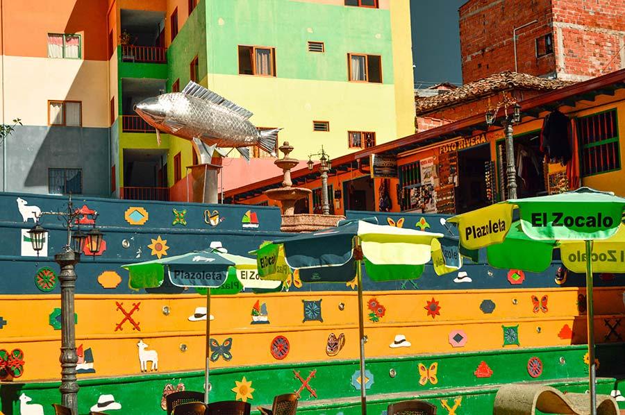 colorful houses guatape