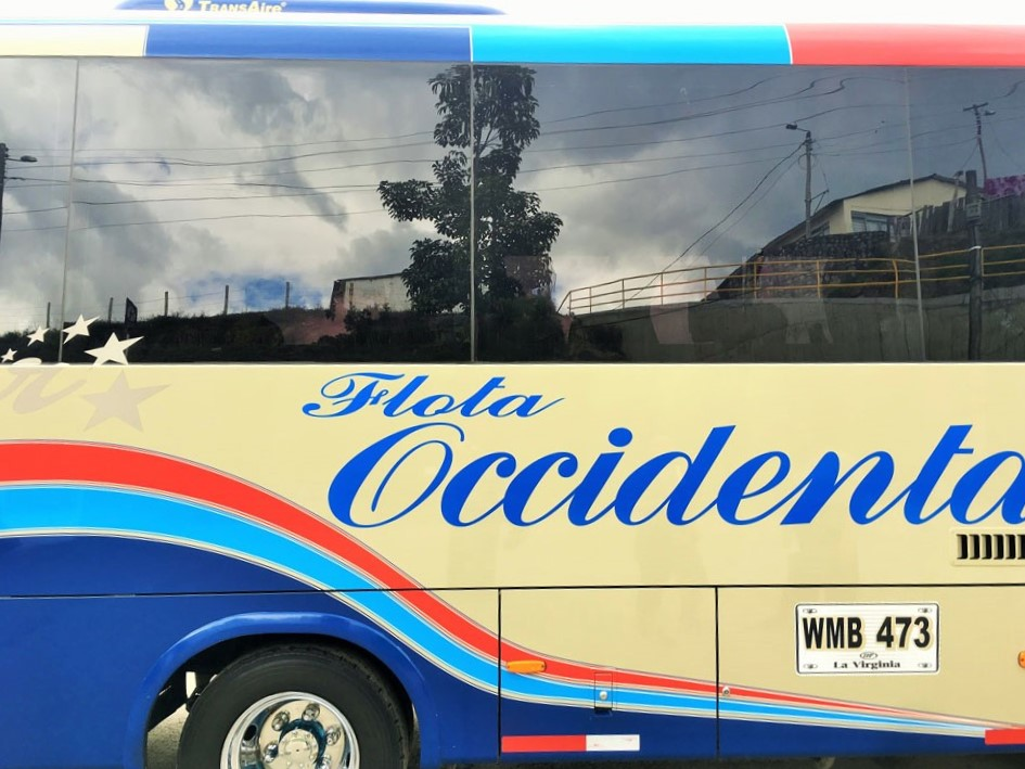 Bus from Salento to Medellin