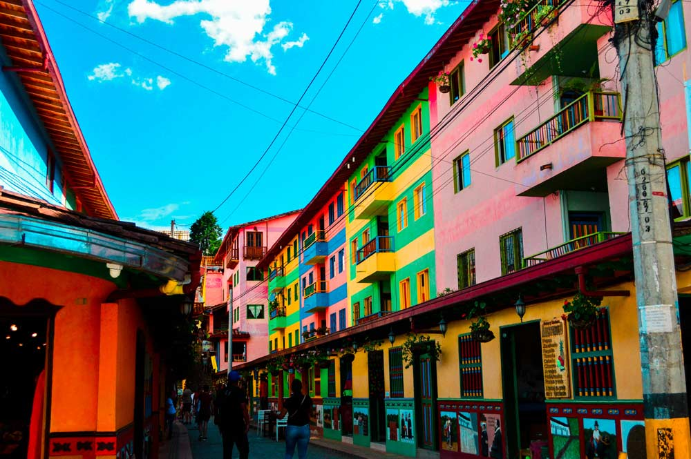 Colorful houses in Guatape, Colombia