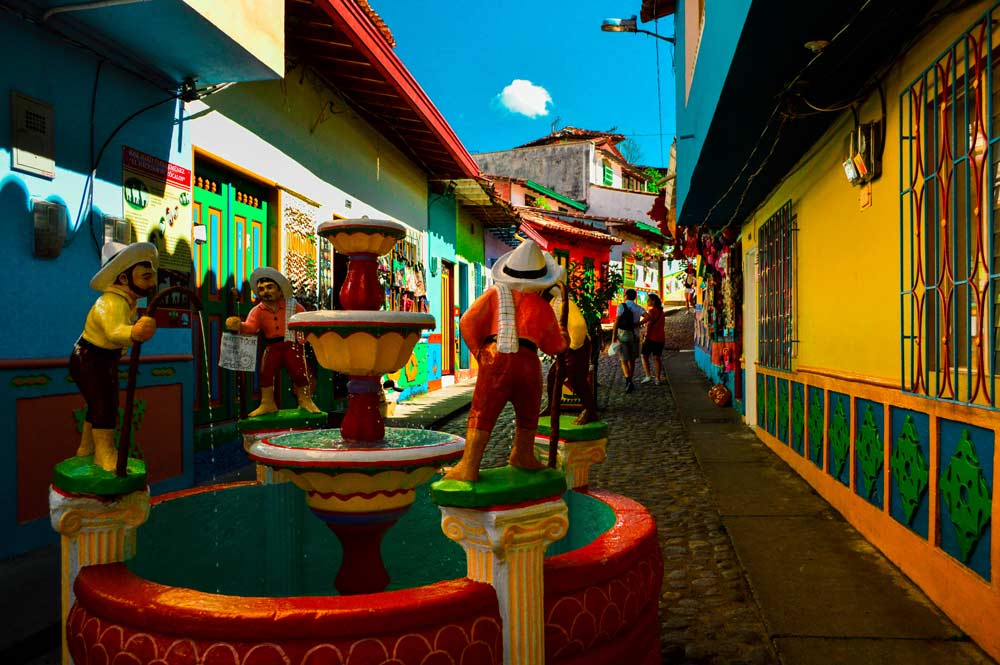 Colorful streets in Guatape, Colombia