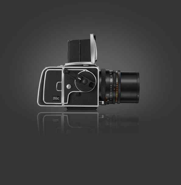 Side view of Hasselblad CFV-50c Digital Back on V Series Camera