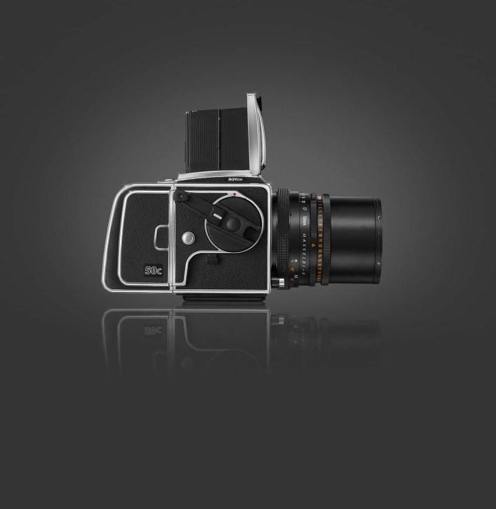 Side view of Hasselblad CFV-50c Digital Back on V Series Camera