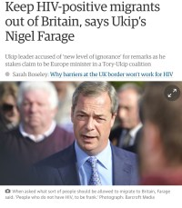 UKIP has often courted controversy over immigration, LGBT and HIV issues. (Guardian)