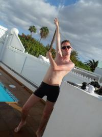 Tom on Holiday in Gran Canaria 2011 - just before I got my diagnosis on the phone