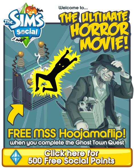 500 Free Social Points and New Sims Social Newsletter