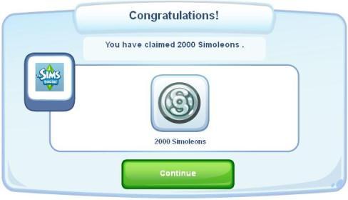 2,000 Free Simoleons for The Sims Social!!!