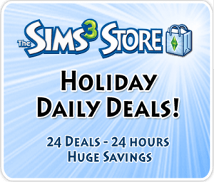Sims 3 Store - Holiday Daily Deals