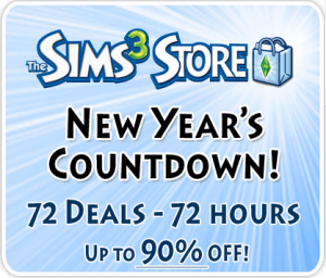 The Sims 3 Store - 72 New Year's Daily Deals