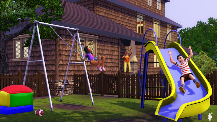 The Sims 3 - Ghosts and Backyard play screens