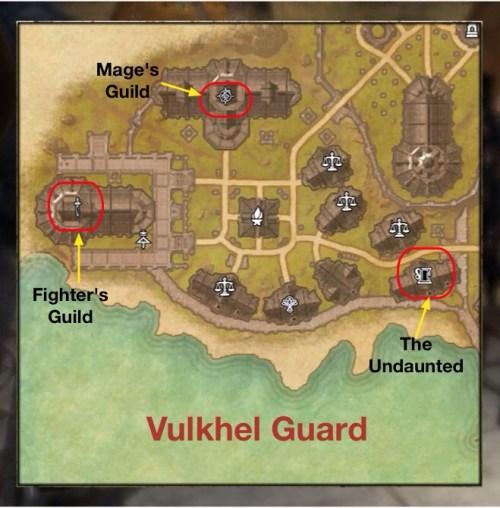 Guilds in Vulkhel Guard