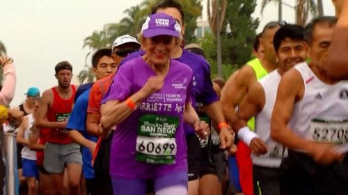 91 year old Harriette Thompson