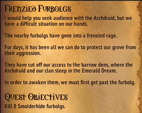 Quest - Frenzied Furbolgs