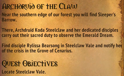 Quest - Archdruid of the Claw