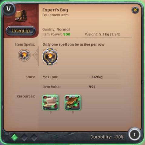Albion - Expert's Bag