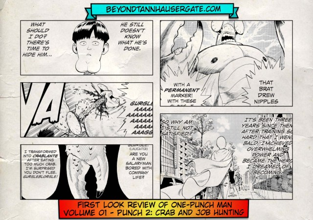 Beyond Tannhauser Gate | Review of One-Punch Man Volume 01, Punch