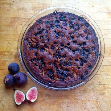 Paleo Debunking: Artificial Sweeteners + Paleo Blueberry Fig Snack Cake