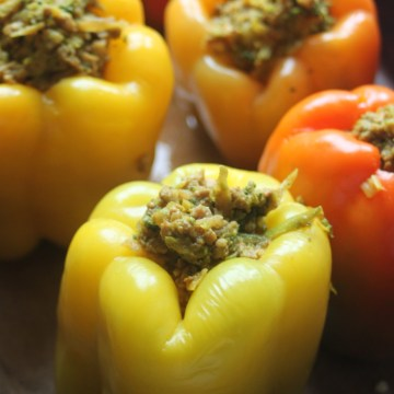 Paleo Asian Inspired Stuffed Peppers