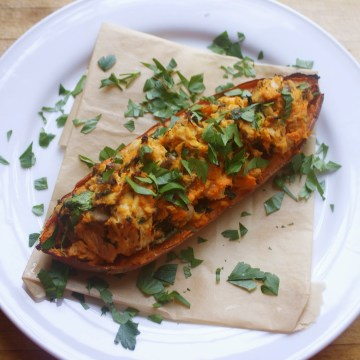 Succulent Stuffed Sweet Potatoes (AIP Friendly)
