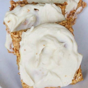 Keto Vital Proteins Chewy Vanilla Frosted Cookie Bars (Nut Free)