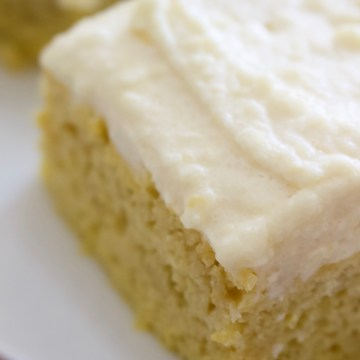 Keto Lemon Sheet Cake with Cream Cheese Frosting (Dairy-free option)