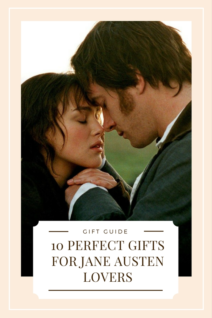 Movies, jewelry, t-shirt and candles are just a few of the items on this list of favorites gifts for Jane Austen fans!
