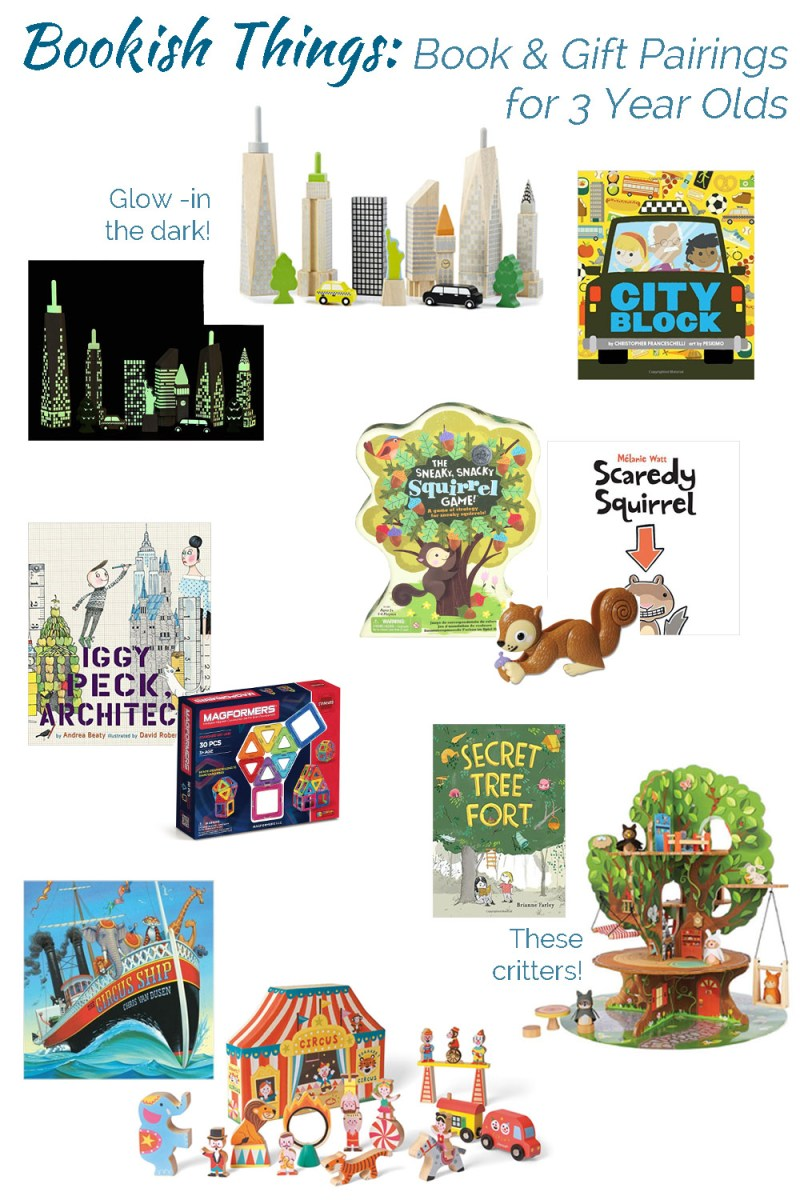 Bookish Things: Book and Gift pairings for 3 year olds