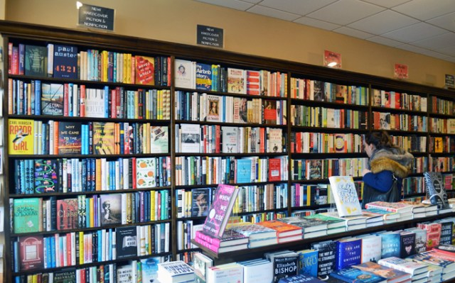 Narberth Bookshop Fiction Section