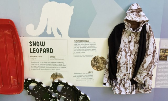 Educational material at Philadelphia Zoo's Winter Exhibit