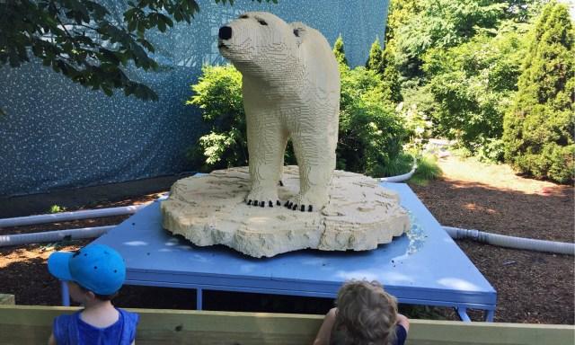 Lego Polar Bear at the Philadelphia Zoo Winter