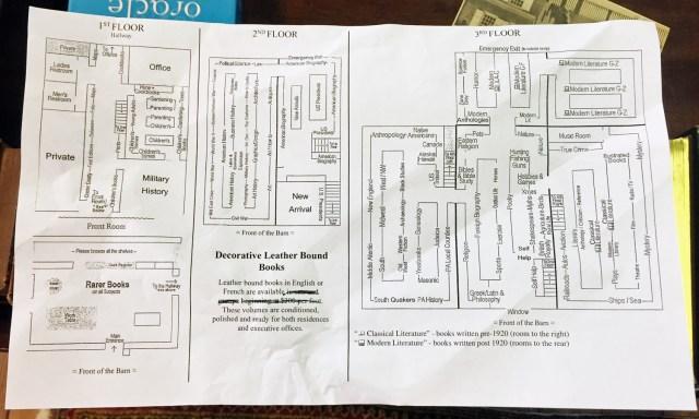 Map of Baldwin's Book Barn