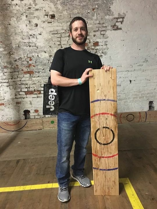 Ax throwing winner!!
