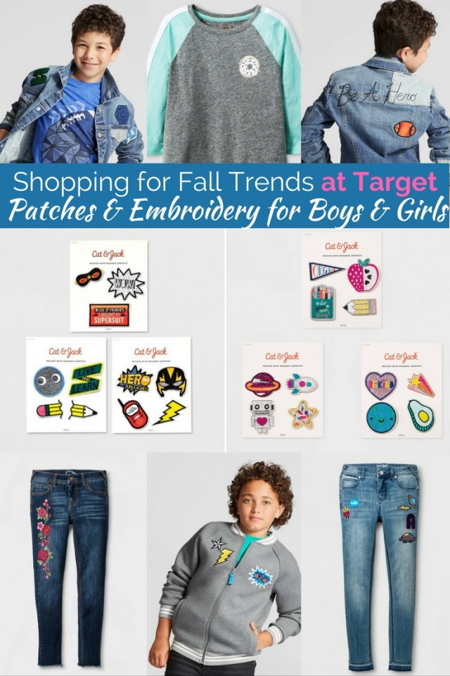 Patches and embroidery are all the rage for kids this fall. Grab some at affordable prices!