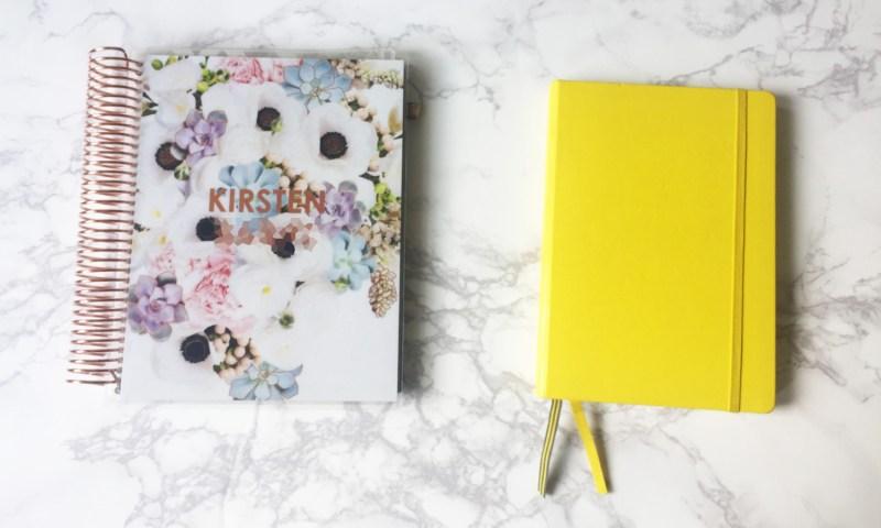 How we plan: Erin Condren vs. Bullet Journalling.