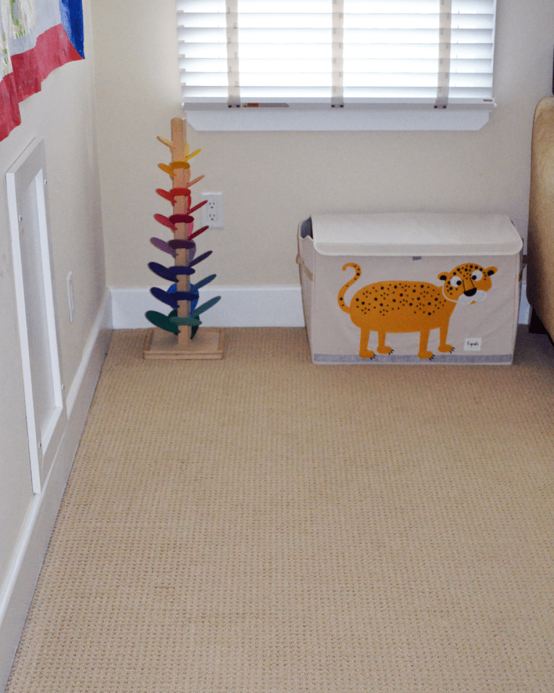 After shot of the corner of the playroom.