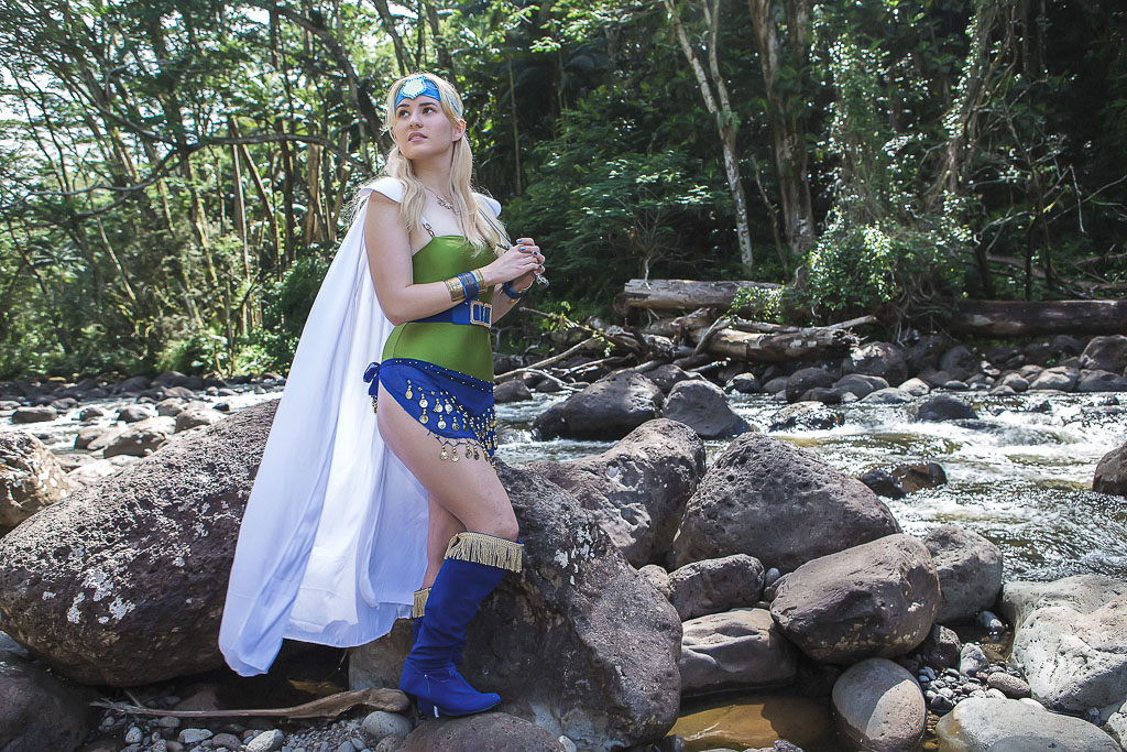 Hawaii Conceptual Portrait cosplay photography near stream