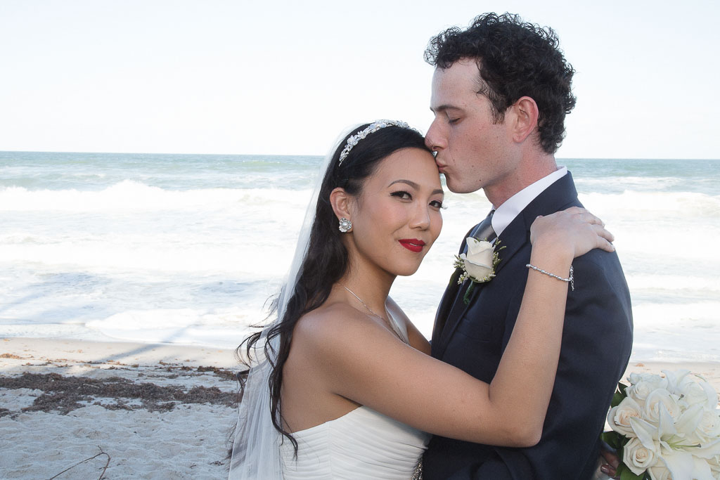 Hawaii wedding bride and groom formal beach portrait professional photographer
