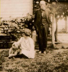 Dr. George Washington Richards with Lucille Richards Harrison
