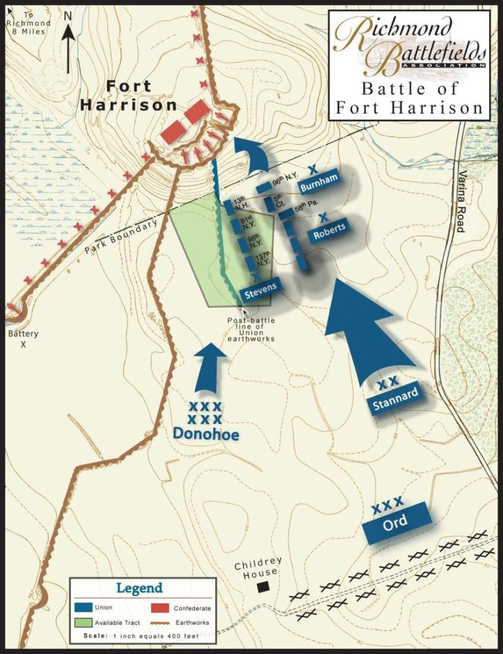 Battle of Fort Harrison Sept. 29, 1864 (Julie Krick)