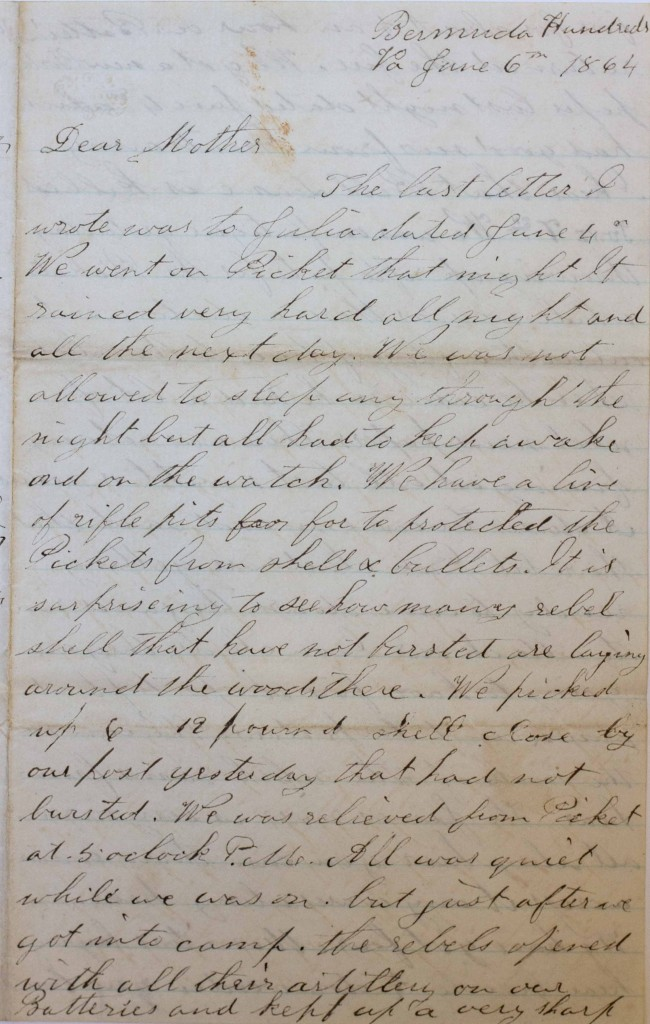18640606 Elias Peck 10th CT Letter Page 1